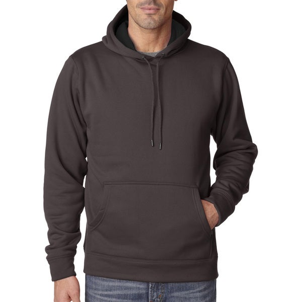 Cool and Dry Men's Big and Tall Sport Smoke/Charcoal Hooded Fleece