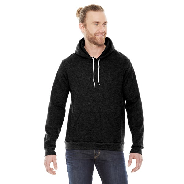 Unisex Flex Fleece Drop Shoulder Black Hoodie
