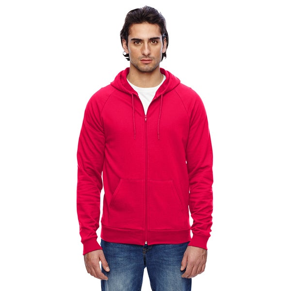 Unisex California Fleece Zip Red Hoodie (XL)