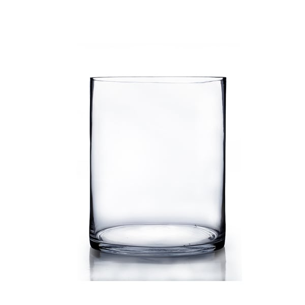 Large 8-inch x 12-inch Clear Glass Cylinder Vase