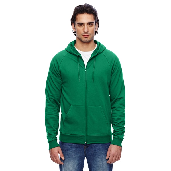 Unisex California Fleece Zip Kelly Green Hoodie (XL)