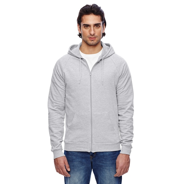 Unisex California Fleece Zip Heather Grey Hoodie