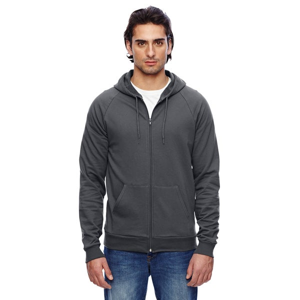 Unisex California Men's Fleece Zip Asphalt Hoodie (XL)