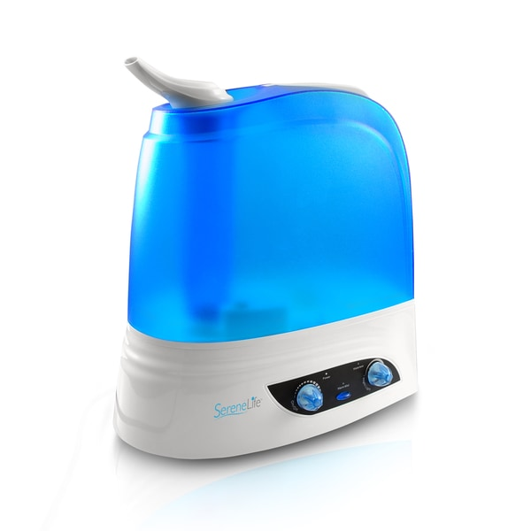 SereneLife PSLHUM80 Warm/Cool Mist Moisture With Built-in Night Light Ultrasonic Humidifier 20015109