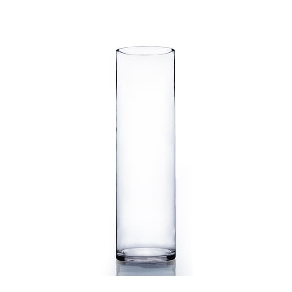 Clear Glass 6-inch x 20-inch Cylinder Vase