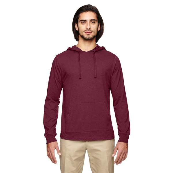 Men's Blended Eco Jersey Pullover Berry Hoodie (XS,XL) 20015131