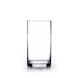 Clear Glass 5-inch x 12-inch Cylinder Vase