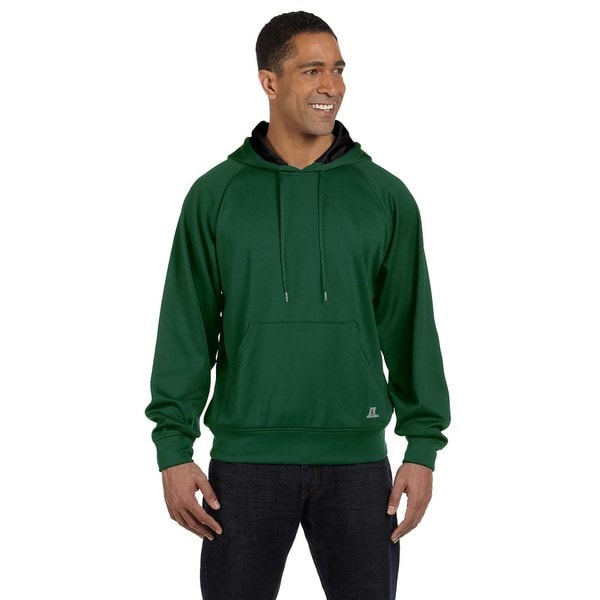 Tech Men's Fleece Dark Green/Black Pullover Hood