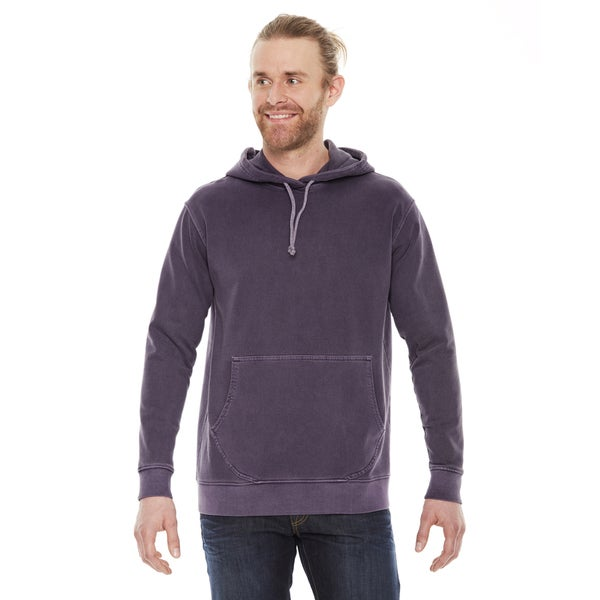 Unisex Big and Tall Washed Plum French Terry Hoodie
