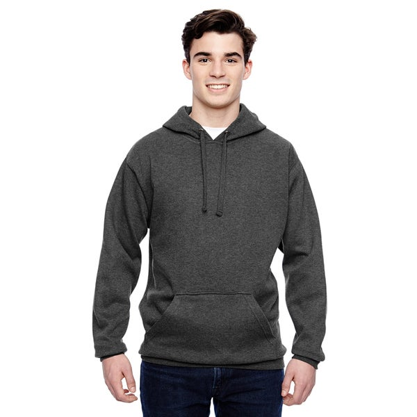 Tailgate Men's Charcoal Heather Fleece Pullover Hood (XL)
