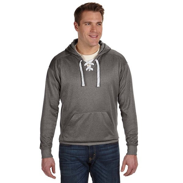 Sport Lace Men's Big and Tall Charcoal Heather Poly Hood 20015572
