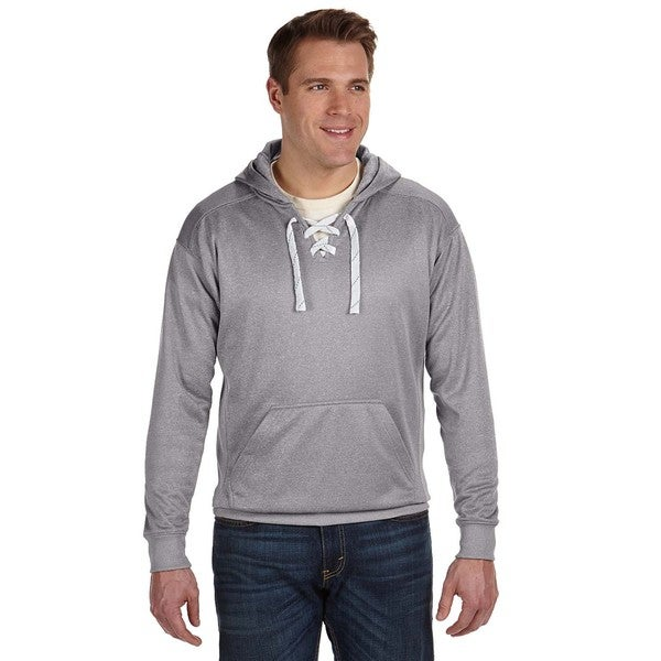 Sport Lace Men's Big and Tall Athletic Grey Heather Poly Hood 20015576