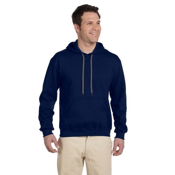 Men's Big and Tall Ringspun Hooded Navy Sweatshirt