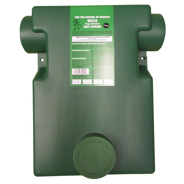 Wilco Distributors 39000 Dark Green Plastic Ground Squirrel Bait Station
