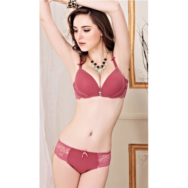 Floral Lace Romantic Underwire Bra and Panty Set 20015872