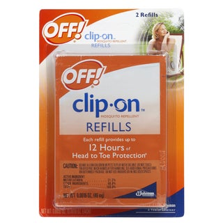 Off 70319 2-count Clip On Mosquito Repellent Refill