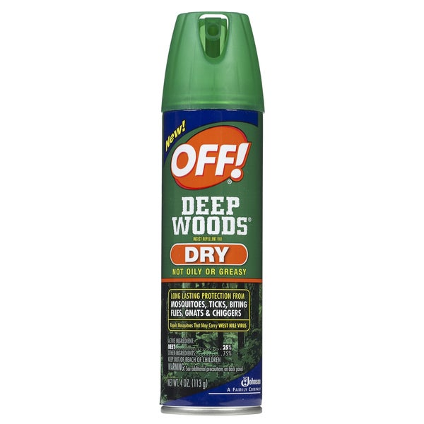Off 71765 4-ounce Deep Woods Dry Insect Repellent