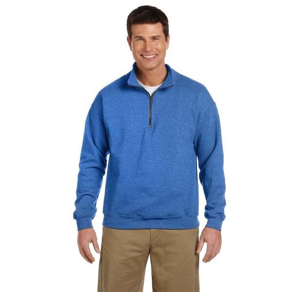 Men's Big and Tall Vintage Classic Quarter-Zip Cadet Collar Royal Sweatshirt
