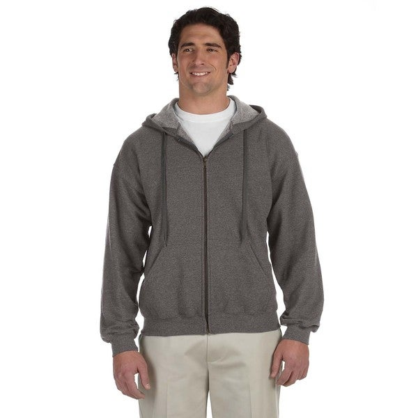 Men's Big and Tall Vintage Classic Full-Zip Tweed Hooded Jacket