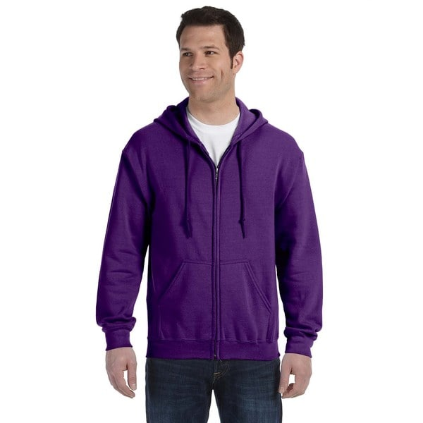 50/50 Men's Big and Tall Full-Zip Purple Hooded Jacket