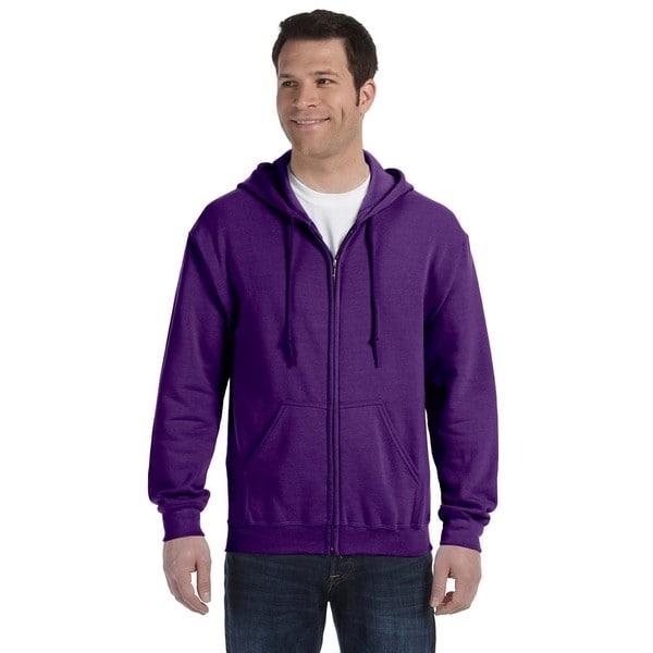 50/50 Men's Big and Tall Full-Zip Purple Hooded Jacket