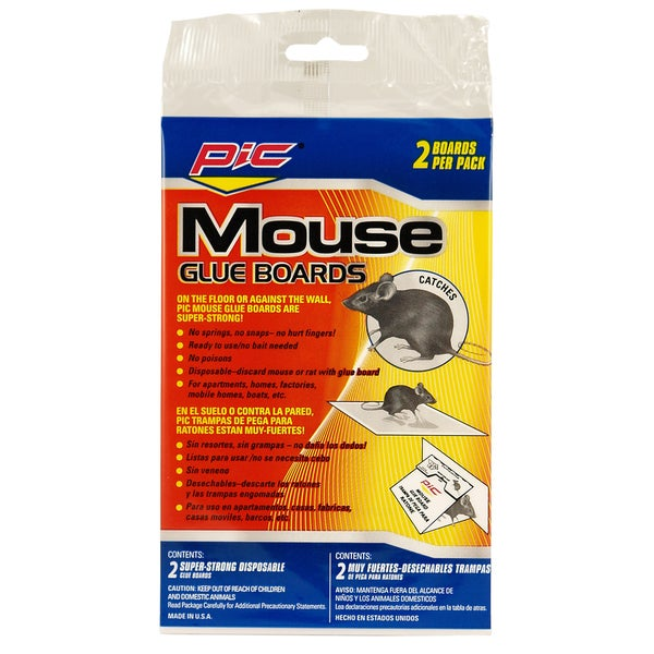PIC GMT-2F Glue Board Mouse Traps 2-count