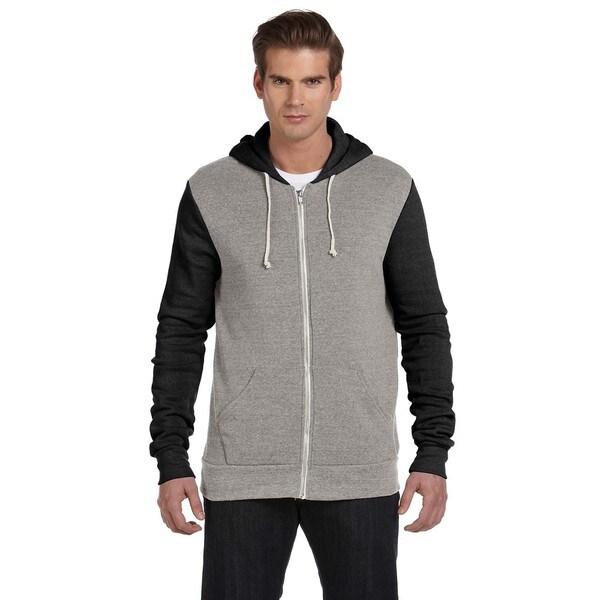 Rocky Men's Eco Grey/Eco Tru Black Colorblocked Full-Zip Hoodie
