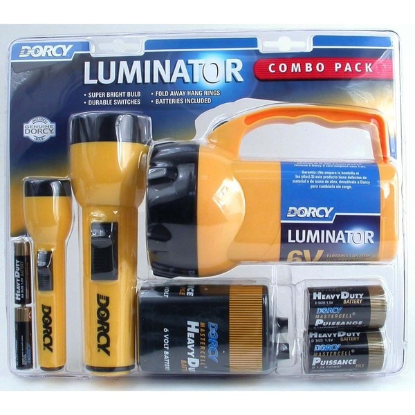 Dorcy 41-2865 6 Volt 2D and AA Cell Luminator Flashlight Combination Pac 20016546