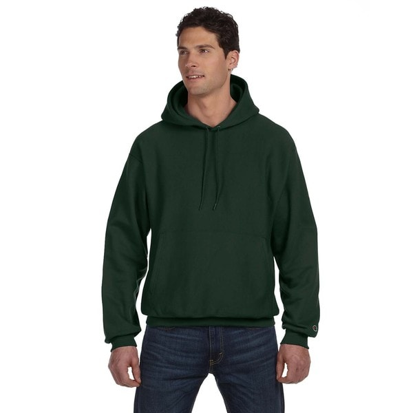 Reverse Weave Men's Dark Green Pullover Hood (XL)