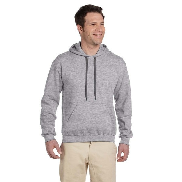 Men's Ringspun Sport Grey Hooded Sweatshirt