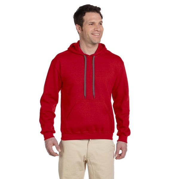 Men's Ringspun Red Hooded Sweatshirt