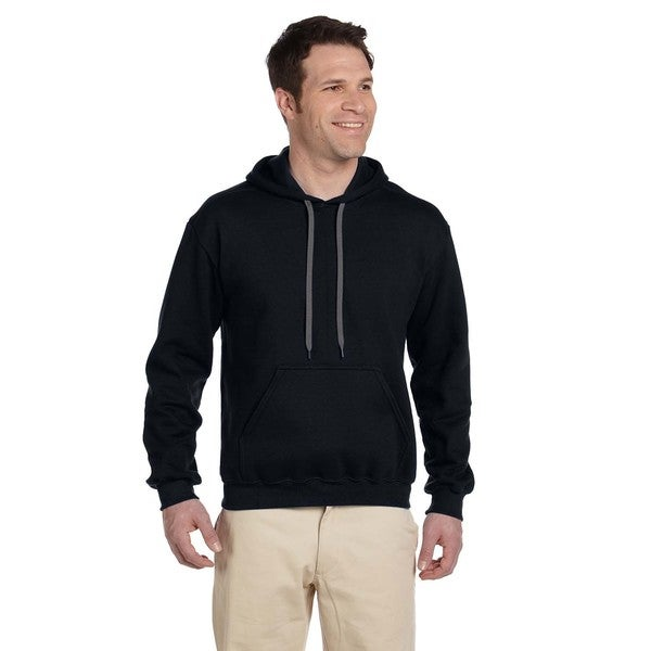 Men's Ringspun Hooded Black Sweatshirt (XL)