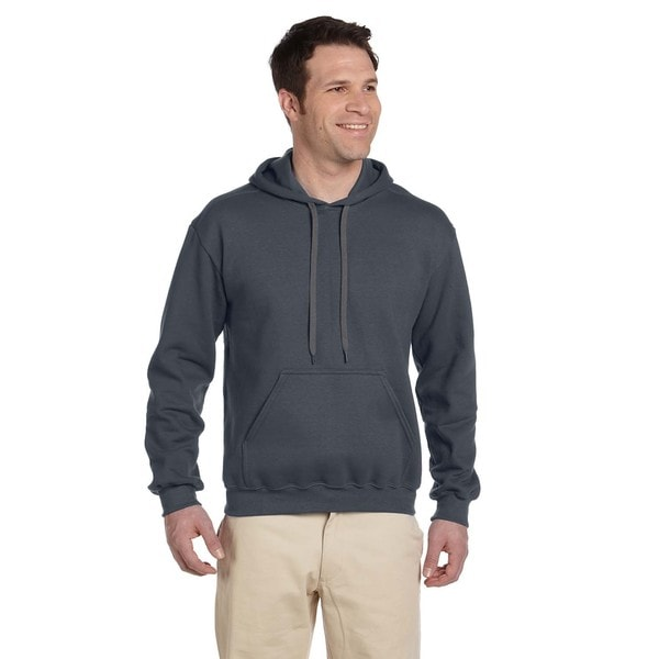 Men's Ringspun Hooded Charcoal Sweatshirt (XL) 20016712