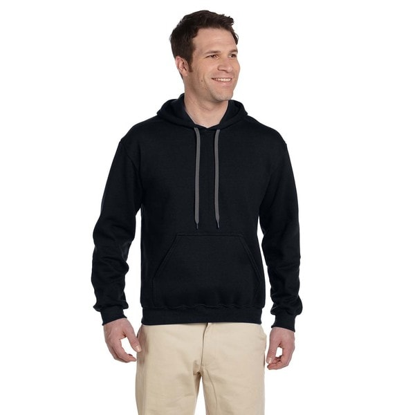 Men's Ringspun Hooded Black Sweatshirt