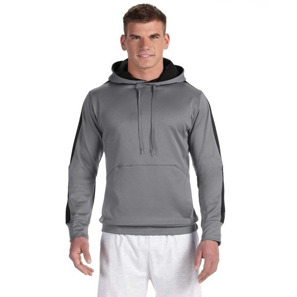 Men's Colorblock Stone Grey/Black Pullover Hood (XL)
