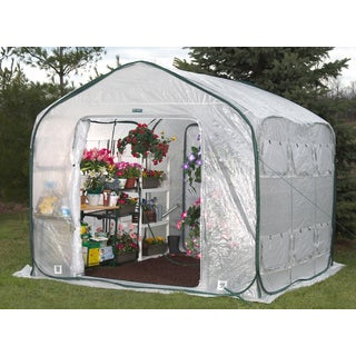 Flowerhouse FHFH700 9-feet Farm House Easy Pop-Up Greenhouse