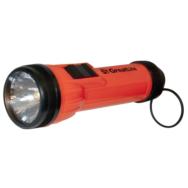 GreatLite 32041 Black & Orange 2D Plastic Flashlight