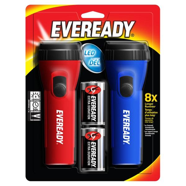 Energizer EVEL152S Eveready LED Economy Flashlight 2-count