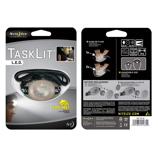 Nite Ize NET-07-02 White TaskLit LED Headlamp