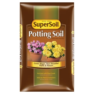 Miracle Gro 72452490 2 Cu Ft Supersoil Potting Soil 0.14-0.09-0.02