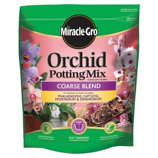 Miracle Gro 74778300 8-quart Orchid Potting Mix - Coarse Blend 0.17-0.05-0.11
