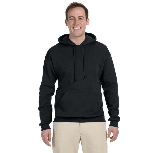 Men's Large 50/50 Nublend Fleece Black Pullover Hood