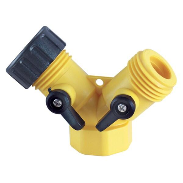 Plumb Craft Waxman 7412000N Y Hose Connector With Shutoff Levers