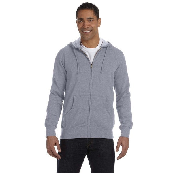 Men's Big and Tall Organic/Recycled Heathered Full-Zip Athletic Grey Hooded Jacket