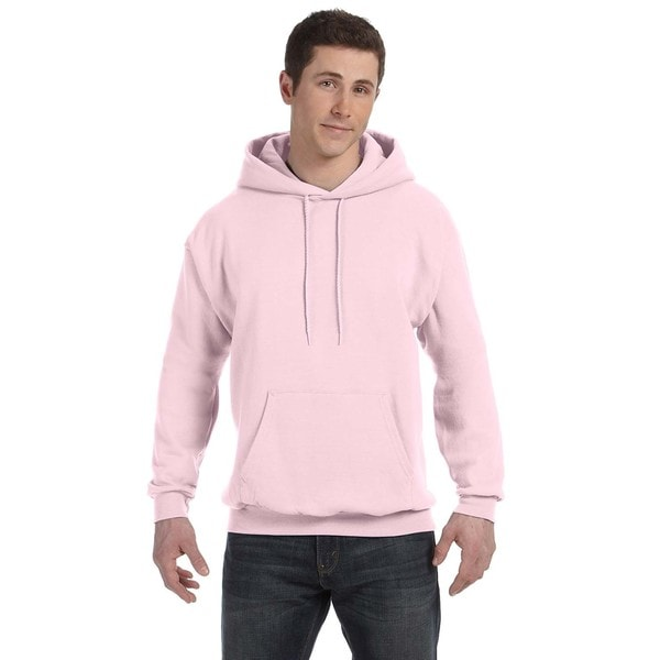 Men's Big and Tall Comfortblend Ecosmart 50/50 Pullover Pale Pink Hooded Jacket