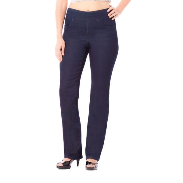 Bluberry Women's Hayden Blue Denim Plus-size Straight-leg Jeans