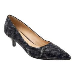 Women's Trotters Paulina Pump Black Printed Python Leather