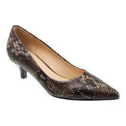 Women's Trotters Paulina Pump Brown Printed Python Leather