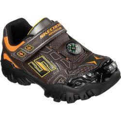 Boys' Skechers Hot Lights Damager II Adventure 2.0 Trail Sneaker Chocolate/Orange