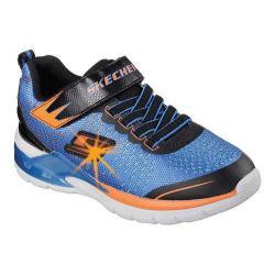 Boys' Skechers S Lights Erupters II Lava Arc Sneaker Blue/Orange